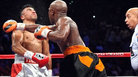 Mayweather vs Ortiz Knockout
