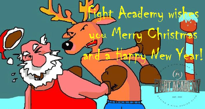 Κανονικά θα γίνονται οι προπόνησης τις ήμερες τον εορτών στο Fight Academy.