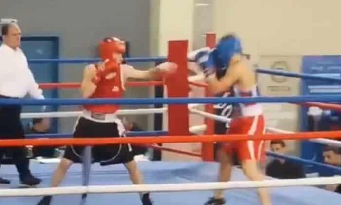 Ημιτελικός Πανελλήνιου Πρωταθλήματος Πυγμαχίας Νέων 2018 64kg